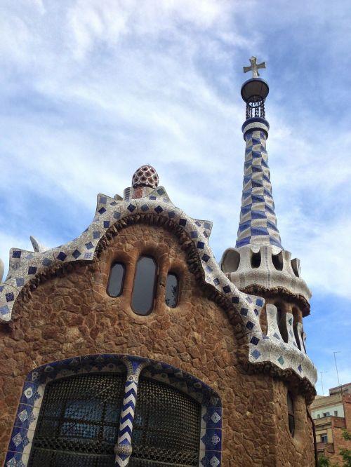 barcelona gaudí park guell