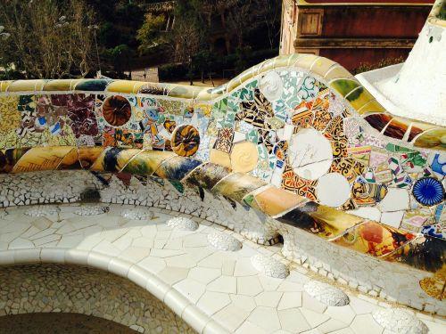 barcelona güell park gaudí