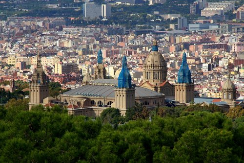 barcelona  panorama  top