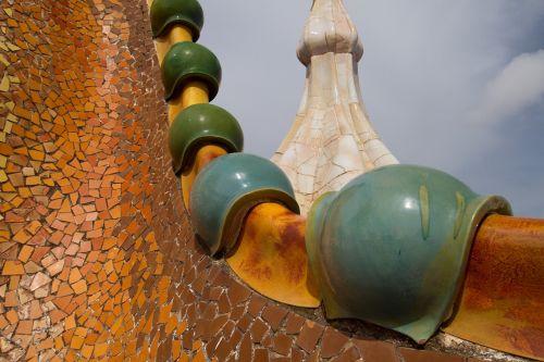 barcelona gaudi roof