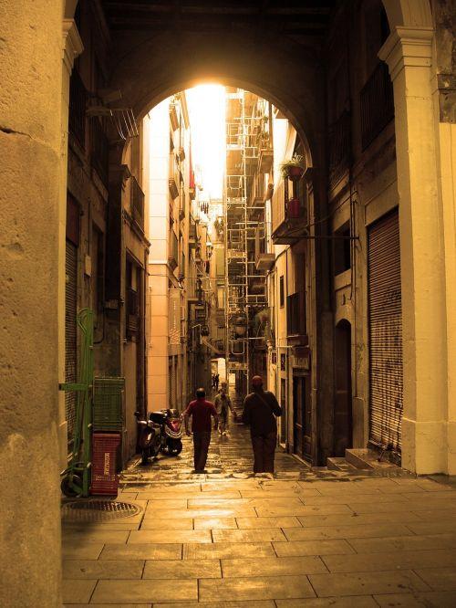 barcelona gothic quarter spain