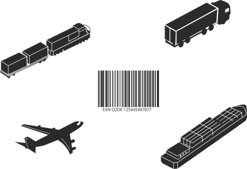 barcode plane truck