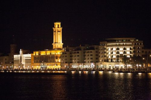 bari nocturne waterfront