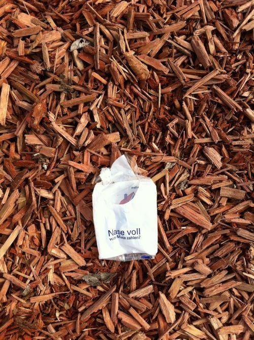 bark mulch advertising handkerchief
