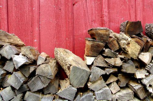 Barn And Chopped Wood