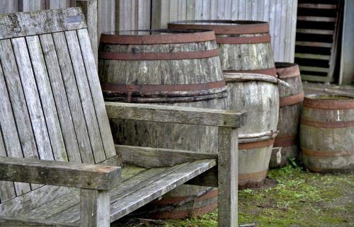 barrels wood seat