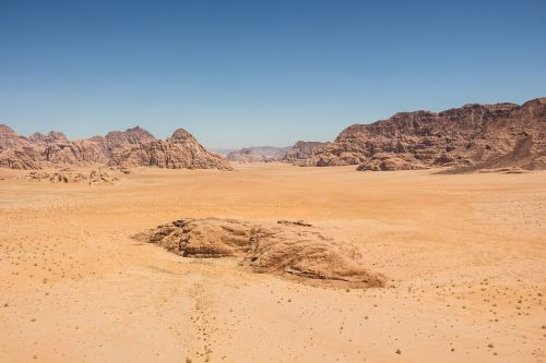 barren desert dry