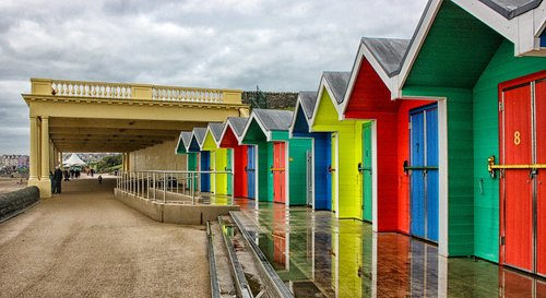 barry island  beach huts  promenade