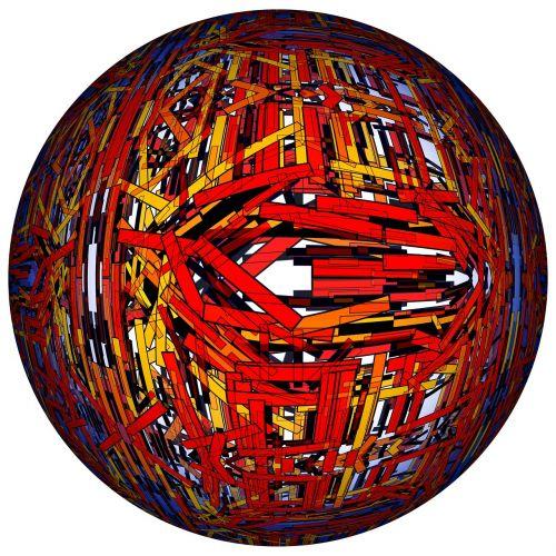 bars pattern ball