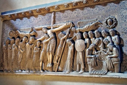 bas relief crucifixion gothic