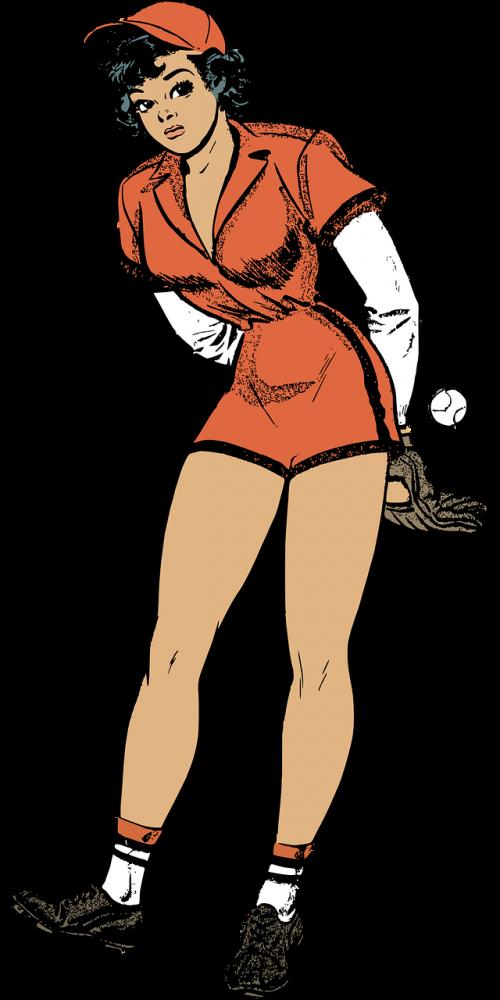 baseball female pinup