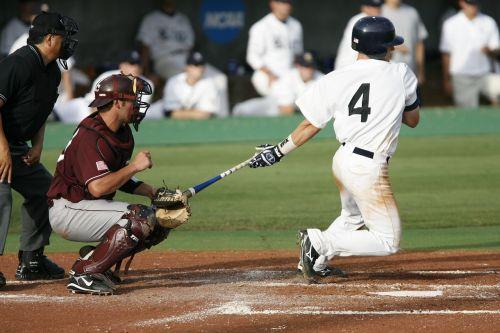 baseball swing home run