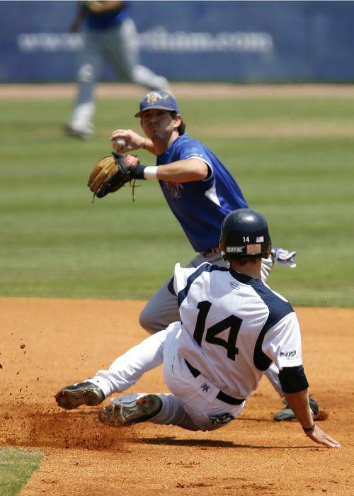 baseball college baseball slide into second