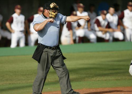 baseball umpire strike
