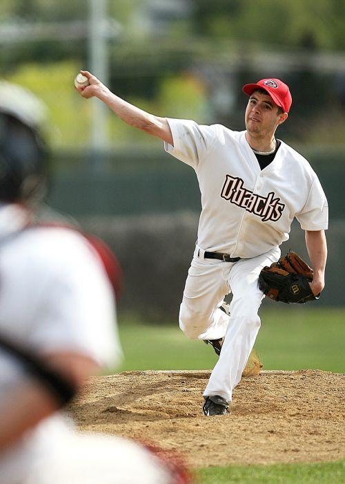 baseball pitcher pitcher's mound
