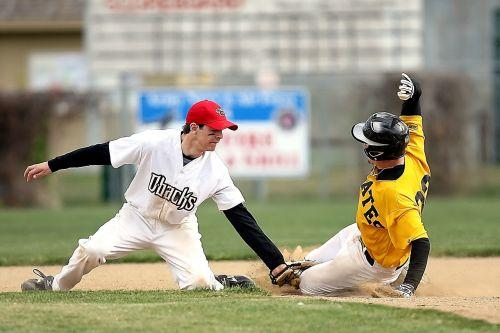 baseball slide second base
