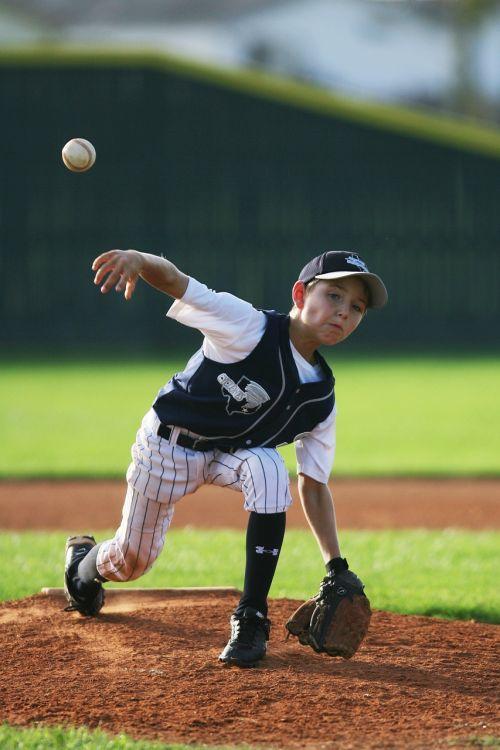 baseball pitcher youth league