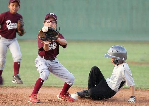 baseball action second base