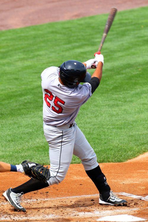 baseball strike swing