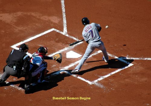 Baseball Batter At Home Plate