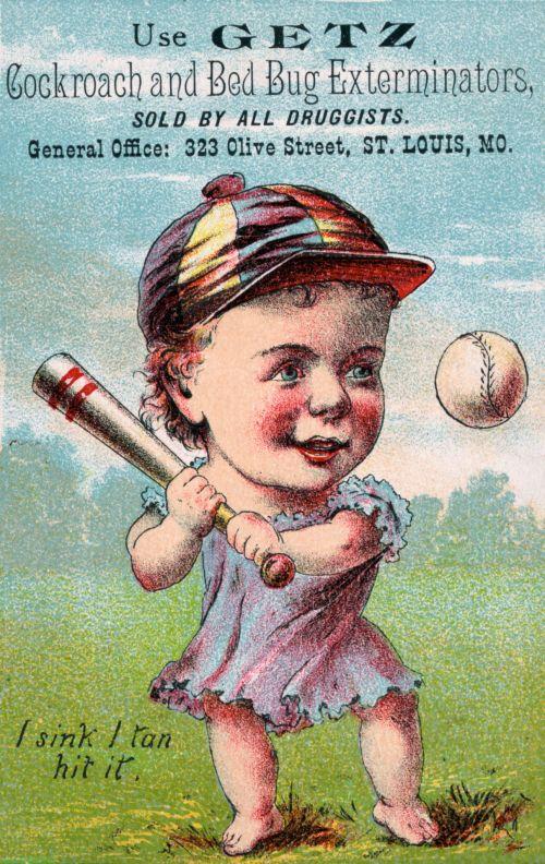 Baseball Player Cartoon Vintage