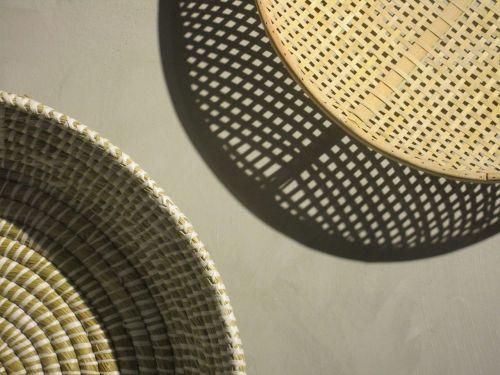 basket braid basket grey