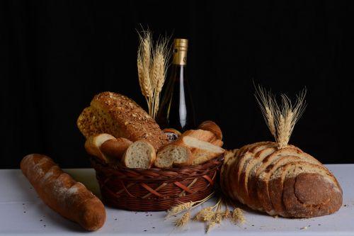 basket breads food