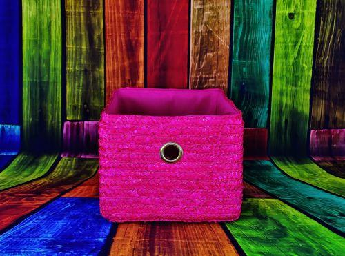 basket pink colorful