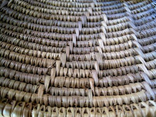 basket weave straw color