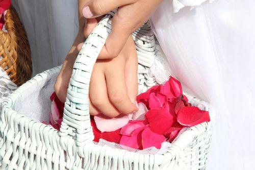 basket rose petal