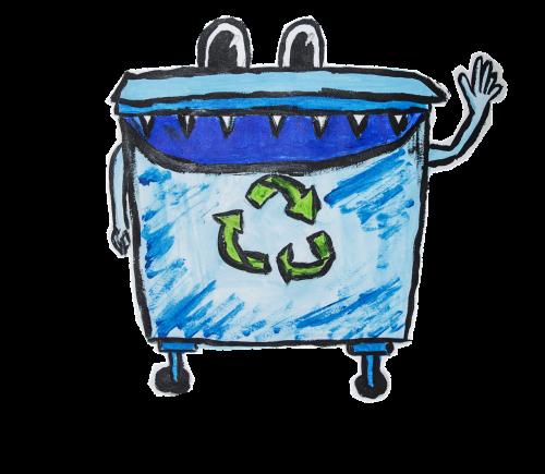 basket recycling garbage
