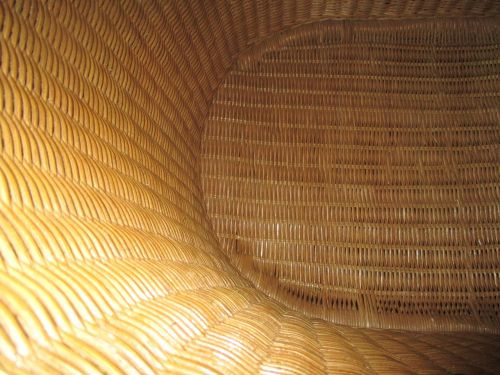 basket wicker chair wicker
