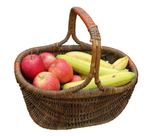 basket hand basket fruit