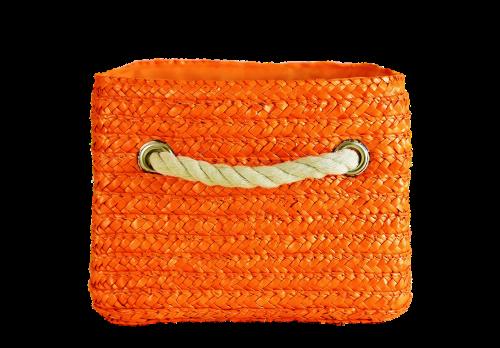 basket orange colorful