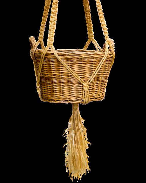 basket wicker basket isolated
