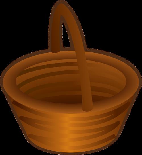 basket brown empty