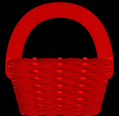basket red plastic