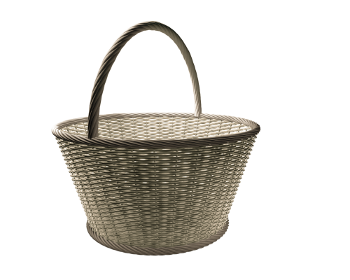 basket wicker basket wicker