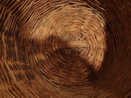 basket wicker abstract