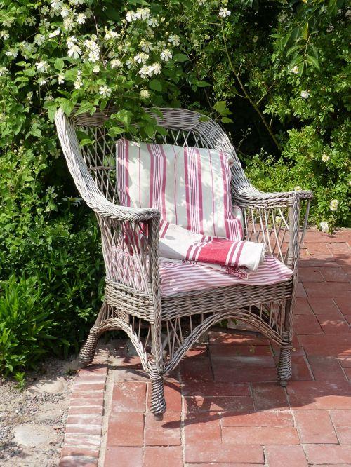 basket chair pillow garden