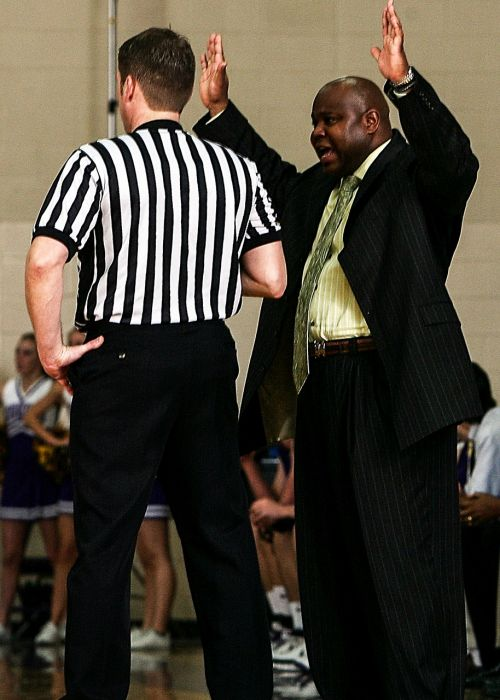 basketball coach referee