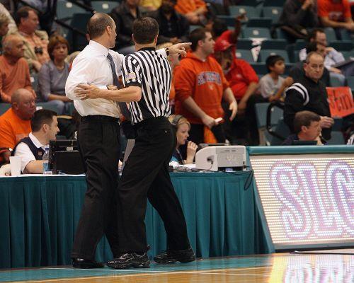 basketball coach referee