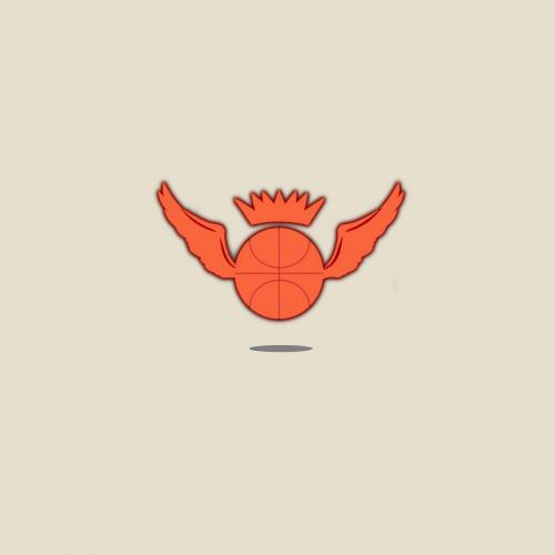 krepšinis, krepšinio logotipas, logotipas, oranžinė, sparnas, nemokamas logotipas, logotipo dizainas, rajonas, logo-element, šablonas, be honoraro mokesčio