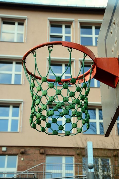 basketball hoop school schoolyard