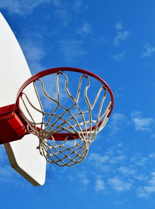 basketball hoop sky sport