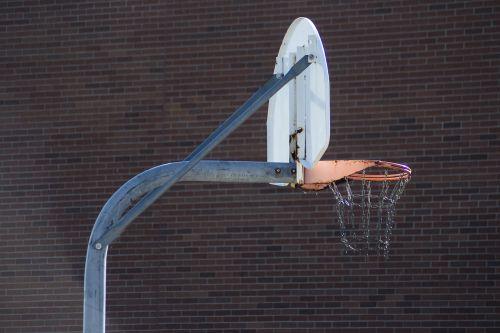 basketball hoop basketball rusty