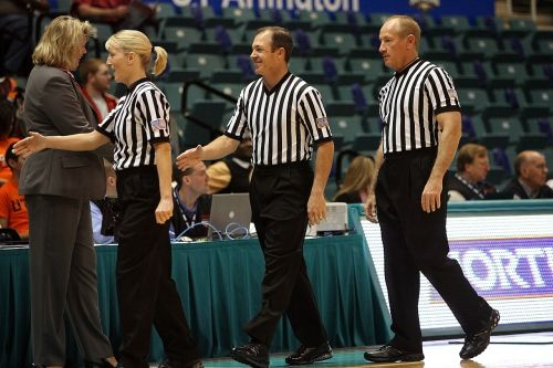basketball officials referees game