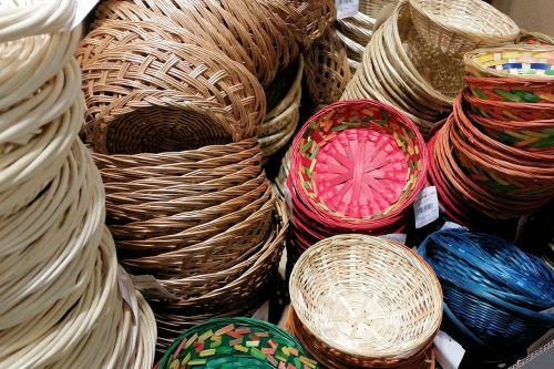 baskets weave wicker