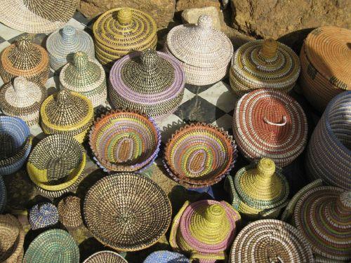 baskets market stall