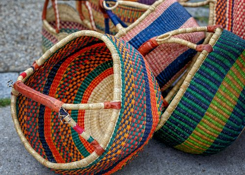 baskets  wicker  woven
